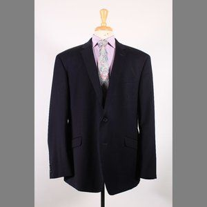 Kenneth Cole 52R Navy Sport Coat G063